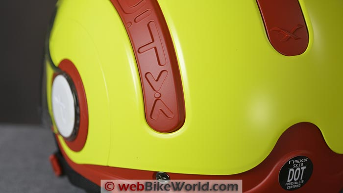 Nexx SWITX SX.10 Helmet Vents Closed