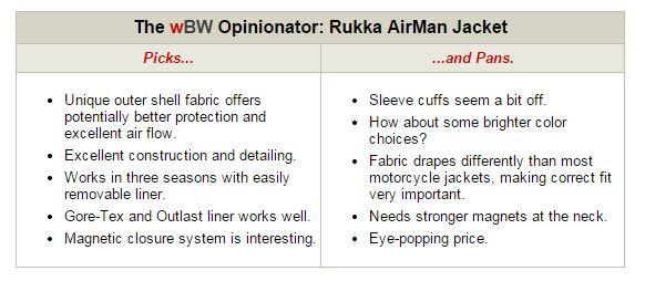 Rukka Airman Jacket Opinionator