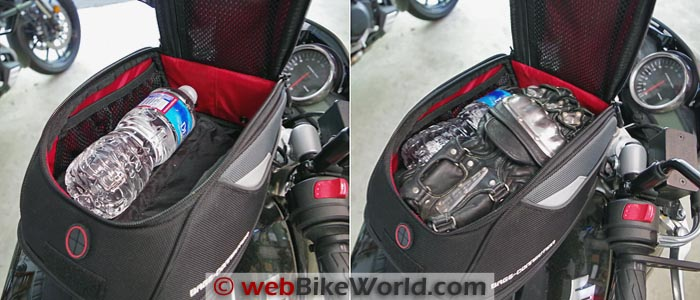 SW-Motech Bags-Connection EVO Daypack Tank Bag Size