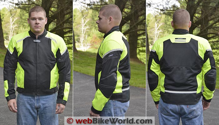 Pilot Direct Air Jacket Front Side Rear Views