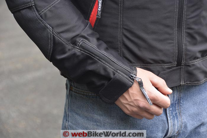 Rukka AiRider Jacket Sleeve Cuff Zipper