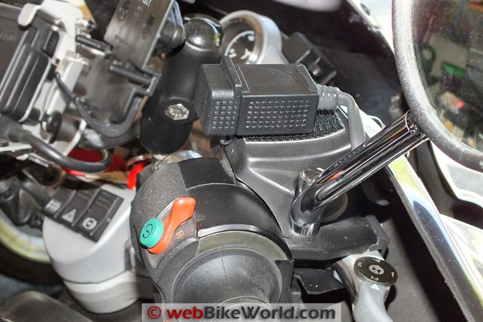 Burns Moto USB Charger on BMW