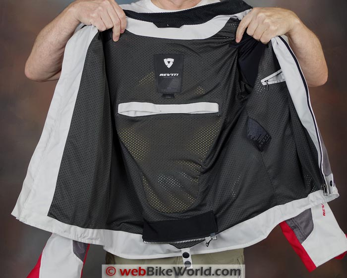 Rev'it Jacket With Forcefield Back Protector Insert