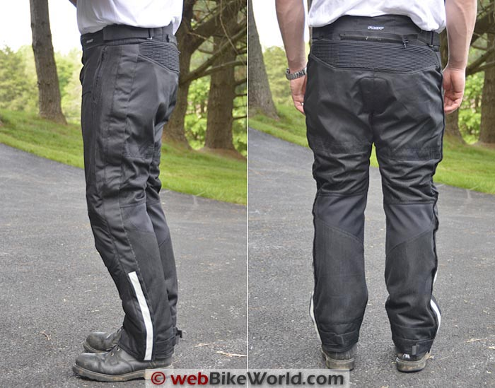 Pilot Omni Pants Side Rear Views