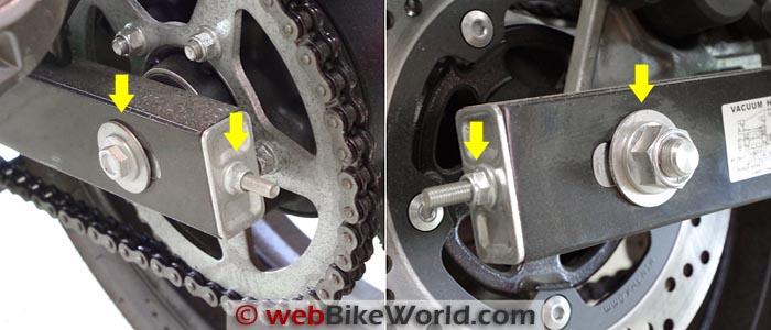 Suzuki GW250 Chain Adjusters