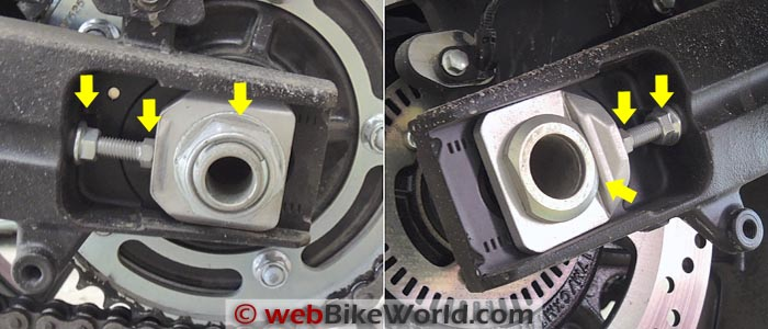 Suzuki V-Strom 1000 ABS Chain Adjusters