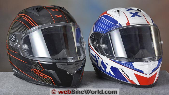 Nexx XR2 Carbon Pure and Torpedo Helmets