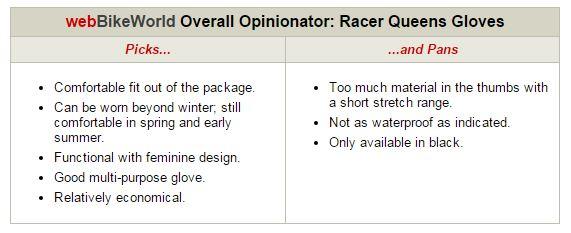 Racer Queens Gloves Opinionator