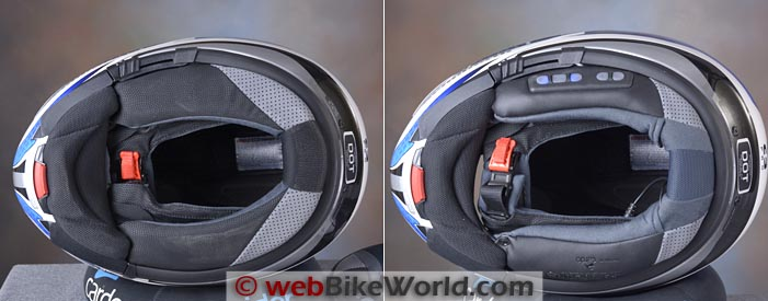 SCHUBERTH C3 Pro With and Without SRC Installed