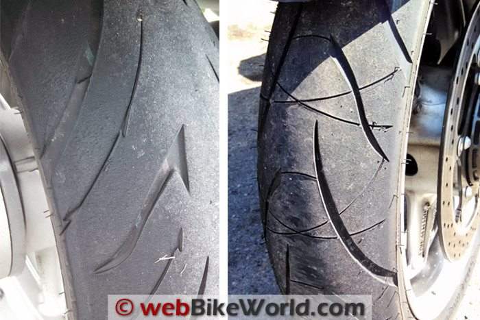 Shinko 016 Verge 2X Tires Pair First Ride