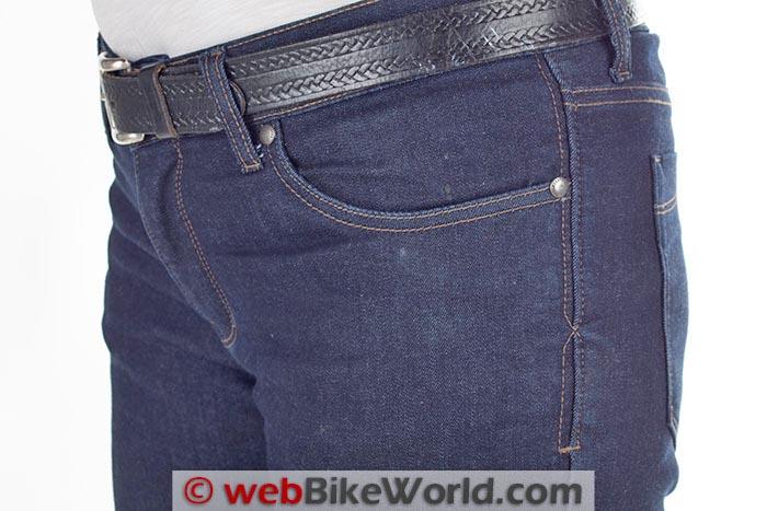 Resurgence Gear Women's Jeans Left Hip Close-up
