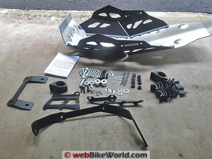 SW-Motech Skid Plate Engine Guard Kit Parts