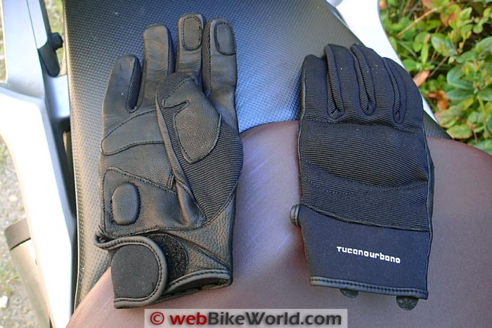 Tucano Urbano Calamaro Gloves Top and Palm Views