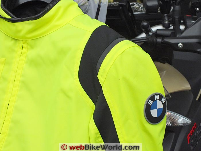 BMW Boulder Neon Jacket Shoulder