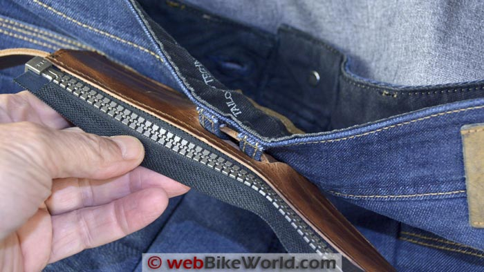 REV'IT! Safeway Belt Connector Attached to Jeans Close-up