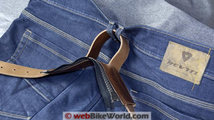 REV'IT! Safeway Belt Connector Attached to Jeans