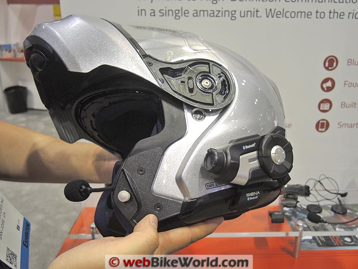 Sena 10C on Flip-up Helmet