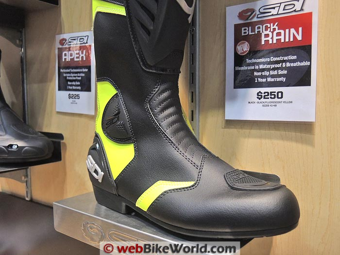 Sidi Black Rain Boot Close-up