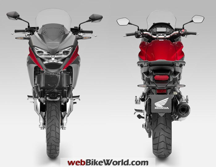 2015 Honda Crossrunner 800 Front Rear Views