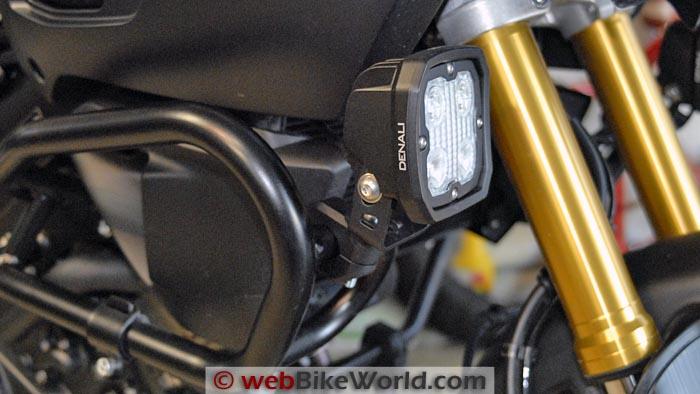 Denali D4 Light Mounted on Crash Bar