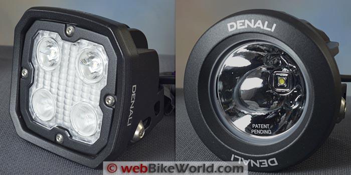 Denali D4 vs. DR1 Lens Front View