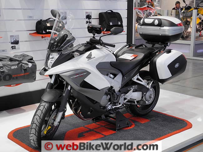 Honda Crossrunner White With Givi Luggage