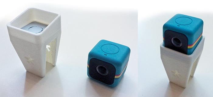 Polaroid Cube Camera Holder Close-up