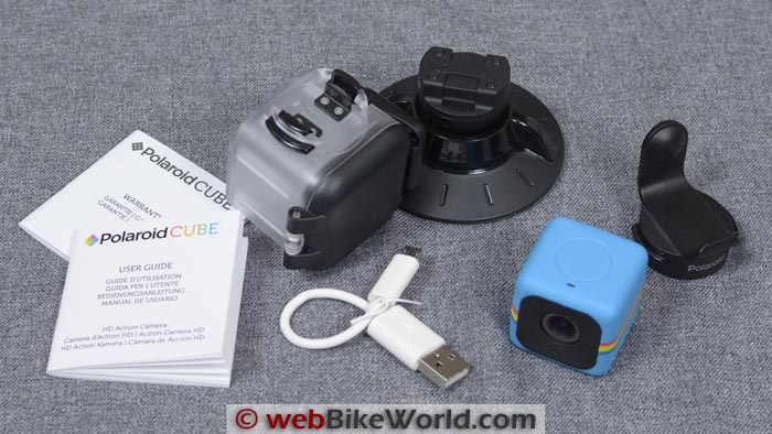 Polaroid Cube Kit Contents