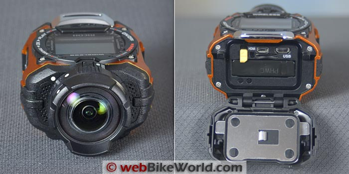 Ricoh WG-M1 Action Camera Front Rear Views