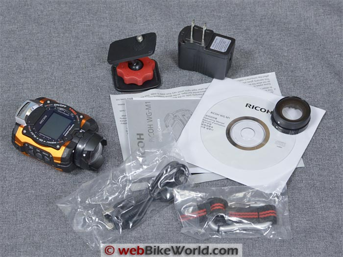 Ricoh WG-M1 Kit Contents