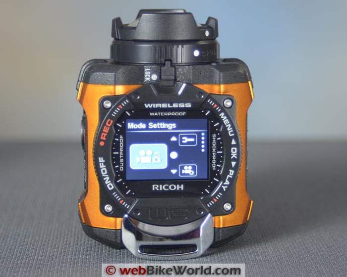 Ricoh WG-M1 Action Camera Menu