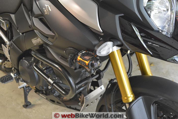 Ricoh WG-M1 Action Camera Mounted on a Motorcycle