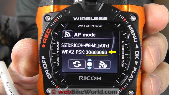 Ricoh WG-M1 Action Camera WiFi Password