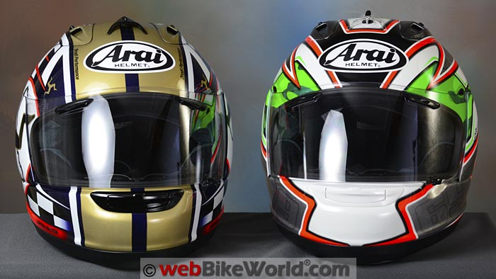 Arai Corsair V Nicky 5 and Isle of Man TT Limited Editions Front