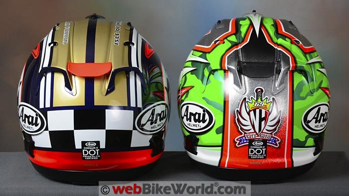 Arai Corsair V Nicky 5 and Isle of Man TT Limited Editions Rear
