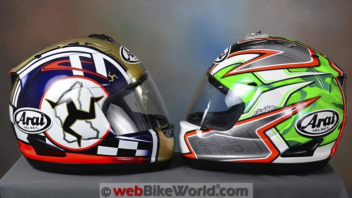 Arai Corsair V Nicky 5 and Isle of Man TT Limited Editions Side