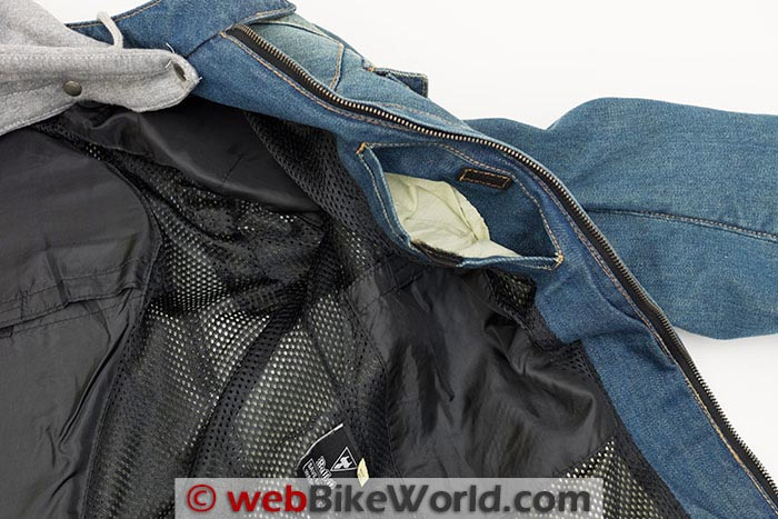 Bull-it Roadster Jacket Left Inside Pocket