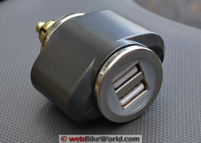 motorcycle usb dual port adapter webbikeworld. Black Bedroom Furniture Sets. Home Design Ideas