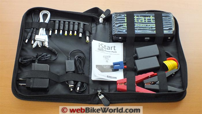 Quick Cable iStart Portable Power Pack Kit Contents