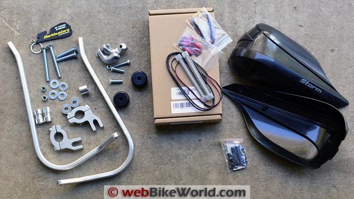 Barkbusters Storm Hand Guards Kit Contents