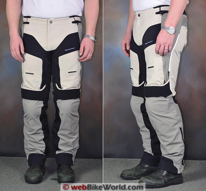 Dainese D-Explorer Pants Front Side Views