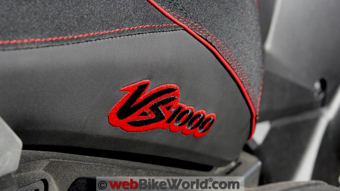 VS1000 logo stitched on both sides of the seat.