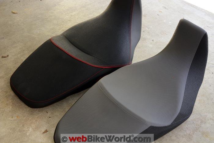 SHAD Seat vs. Stock Suzuki Seat