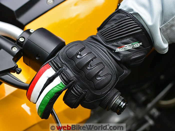 AGV Sport Spirit Gloves on Motorcycle