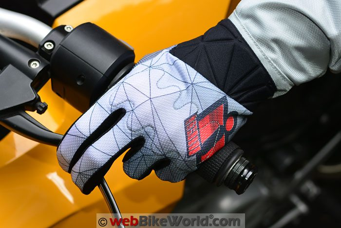 Icon Anthem Blender Gloves on Motorcycle