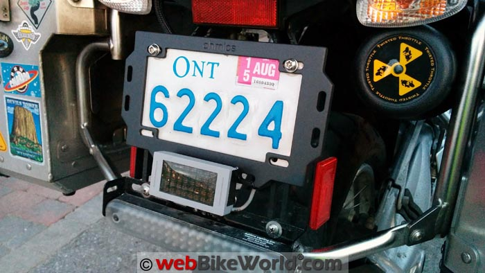 Ohmics Brake Light License Plate Holder