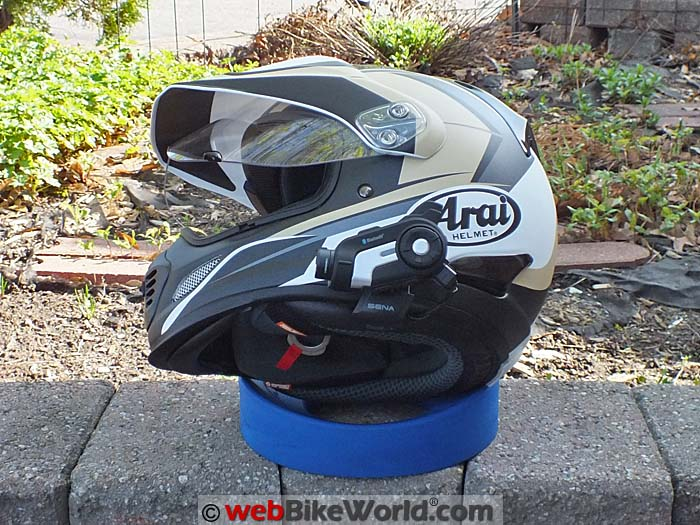 Sena 10C Mounted on Arai XD4 Side View