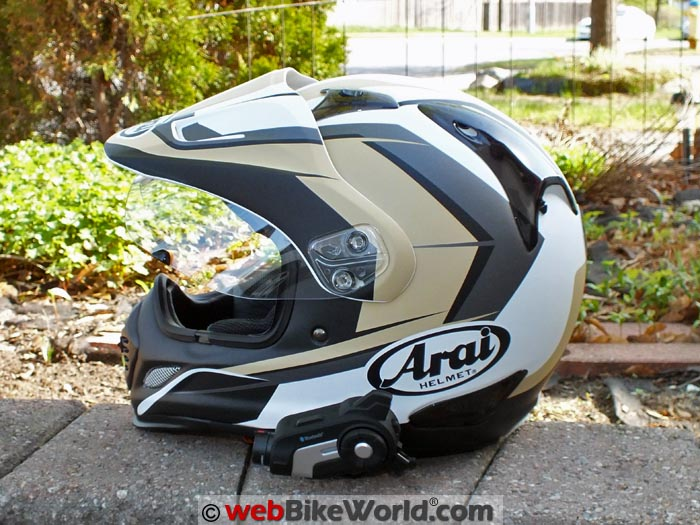 Sena 10C Mounted on Arai XD4