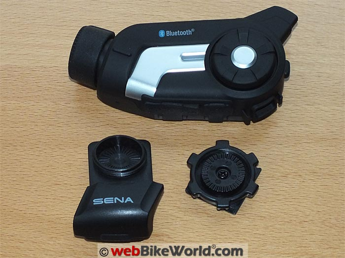 Sena 10C With Helmet Mount and Bezel Wheel