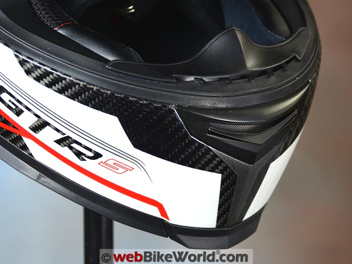 CMS GTRS Carbon Helmet Chin Vent